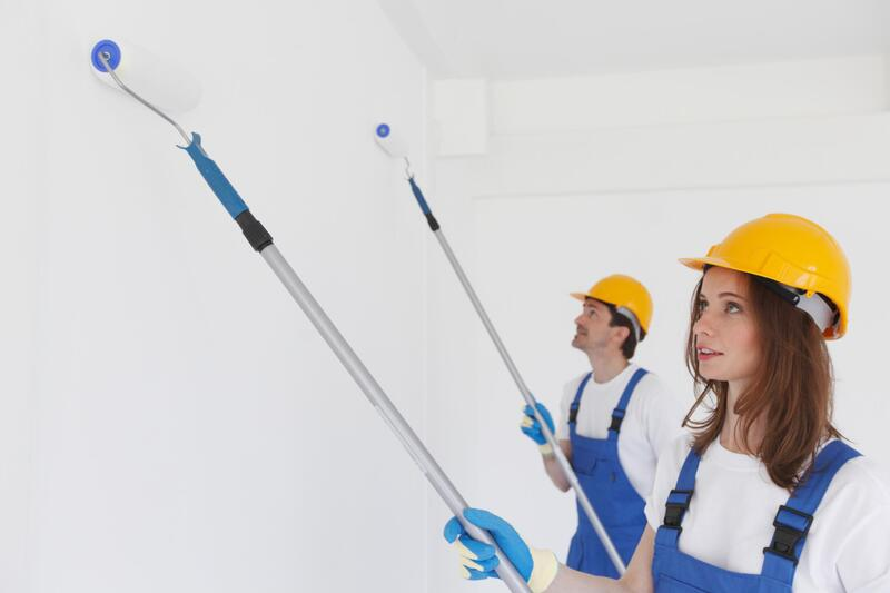 professional painters working on interior painting